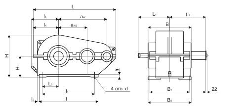 Кинематическая схема редуктора рм-500